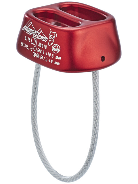 AustriAlpin Tuber Standard Belay Device red anodized
